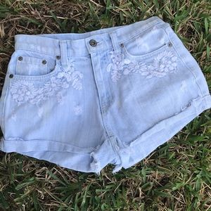 Carmar Shorts Denim Embroidered Floral